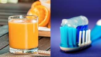 Why Does Drinking Orange Juice After Brushing Your Teeth Taste So Awful?