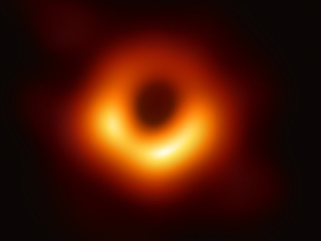 first photo of a black hole ever