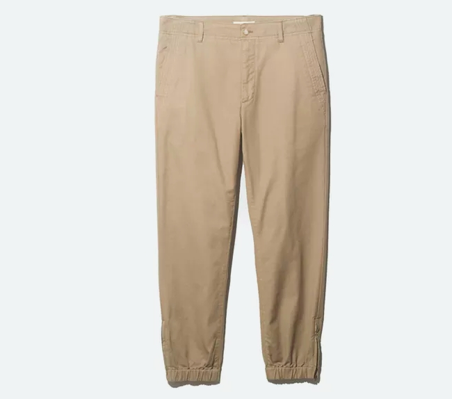 Canvas Jogger in Khaki from ONS