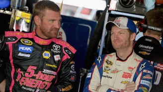 Clint Bowyer Showed Up His Buddy Dale Earnhardt, Jr. By Shotgunning A Beer In Under 3 Seconds