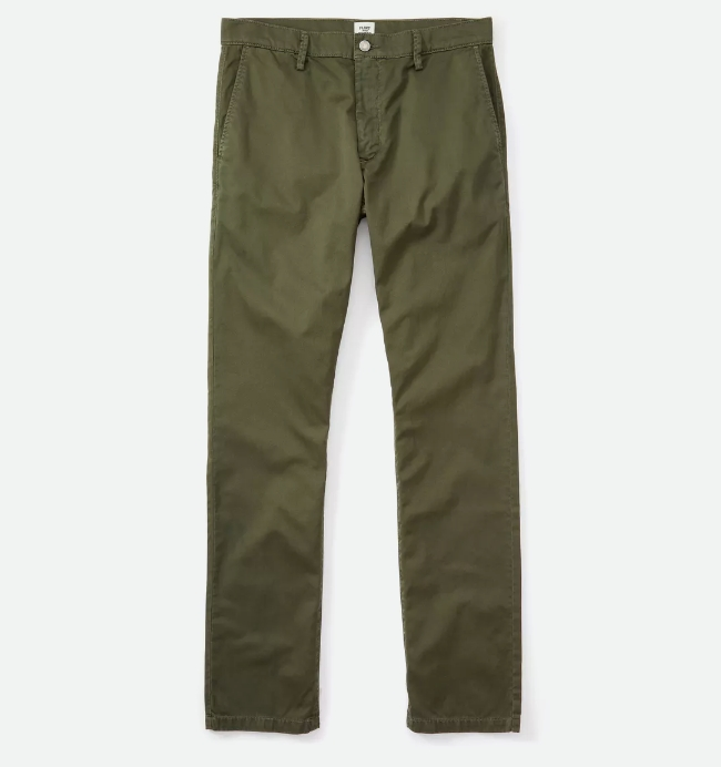 Cool Chinos in Olive by Flint and Tinder