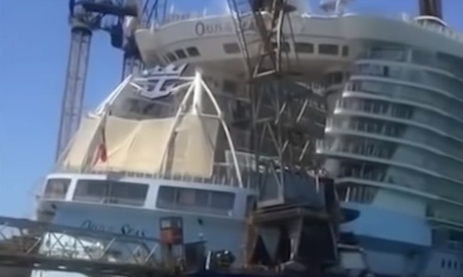 8 hurt after crane falls on Florida-based Oasis of the Seas cruise ship