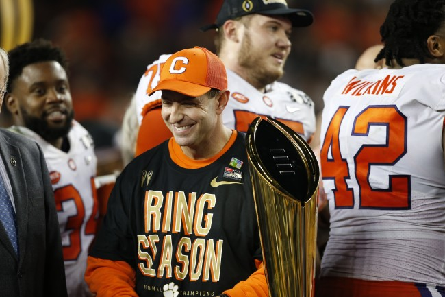 Dabo Swinney signs record contract extension for 10 years with the Clemson Tigers.