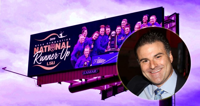 Darren Rovell Destroyed Internet For Mocking LSU Gymnastics Billboard