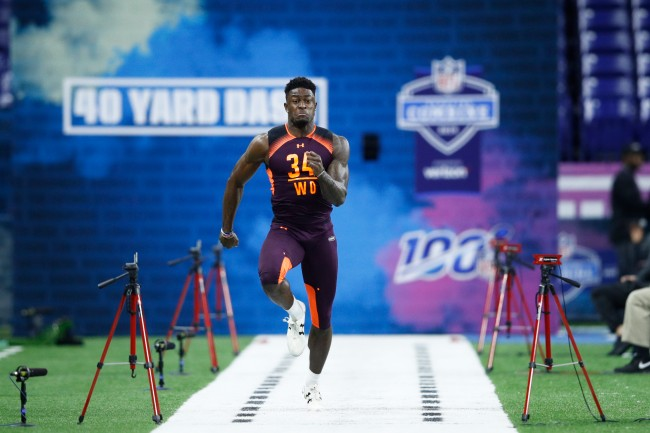dk metcalf showed up shirtless to pre-draft meeting with seattle seahawks and pete carroll responded by losing his