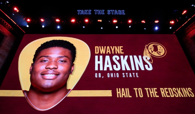 dwayne haskins received an inspiring, three-word text from odell beckham jr after slipping in the NFL draft