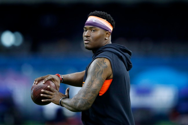NFL Draft prospect Dwayne Haskins compares himself to Tom Brady from the neck up