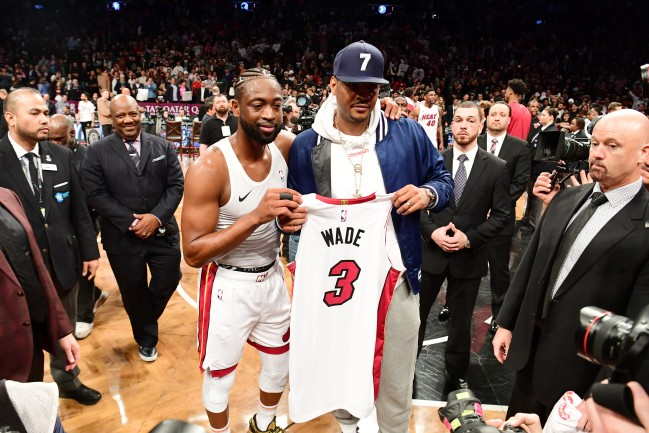 dwyane wade jersey swap with carmelo anthony
