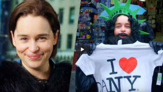 Emilia Clarke Dressed Up As Jon Snow, Walked Around Times Square, And People Had ZERO Idea It Was Her