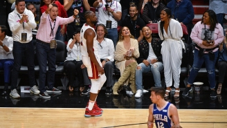 Chrissy Teigen Gets The Meme Treatment After Photo Of Dwyane Wade Crashing Into Her Goes Viral