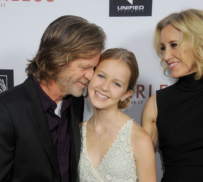 Actors Felicity Huffman and William H. Macy and daughter Georgia Grace Macy