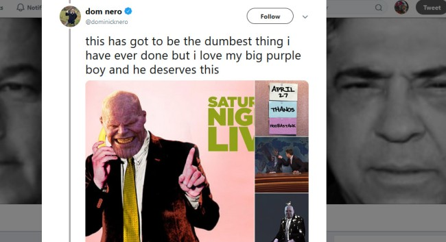 Guy Wrote An ENTIRE Script Where Thanos Hosts Saturday Night Live