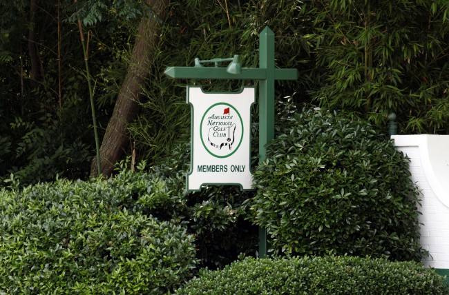 Augusta National Golf Club The Masters Member's Only sign
