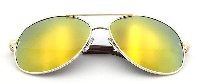 J+S Military-Style Classic Aviator Sunglasses