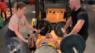 Powerlifter Larry Wheels Sets Crazy Personal Record By Benching A 245-Pound Barbell In EACH Hand