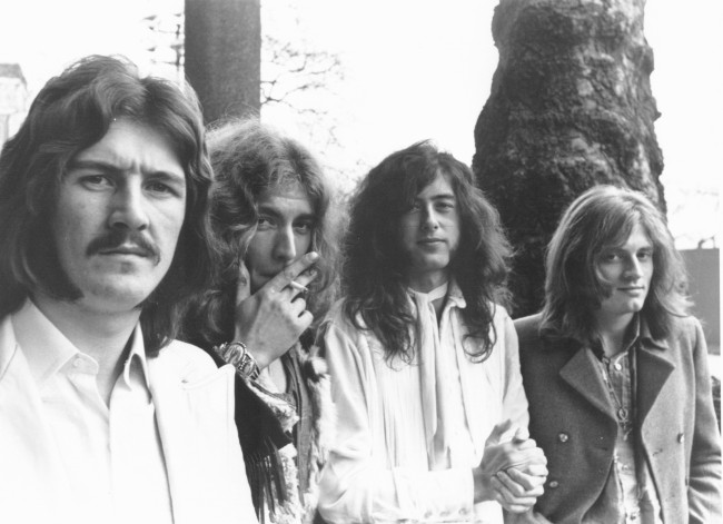 led zeppelin partying