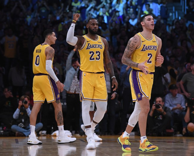 lonzo ball describes lebron james' domination at lakers' first scrimmage