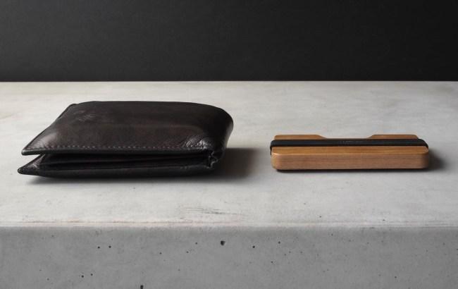 Madera Poquito Cherry Wood Slim Wallet