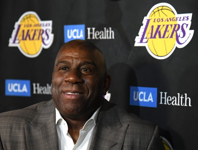 """Magic Johnson says he still talks to Los Angeles Lakers """"almost every day"""" even after resigning a couple of weeks ago."""