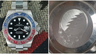 John Mayer's Watch Collection Includes A Rolex GMT-Master II Watch With A Grateful Dead Stealie Engraved In The Back