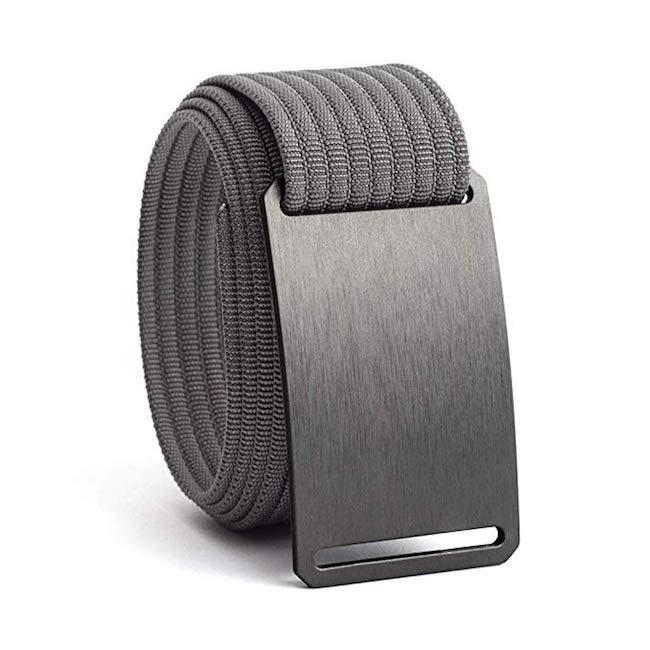 Men's Web Belt in Gunmetal Grey Strap from GRIP6