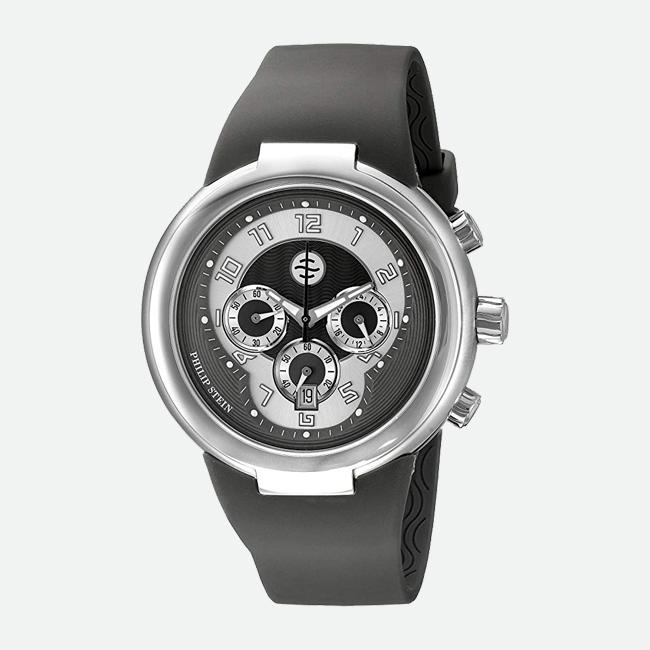Philip Stein 32-AGR-RBGR Chronograph Rubber Strap Watch