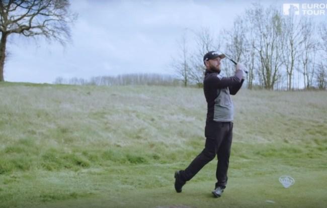pro golfer Andy Sullivan 500 swings hole in one challenge