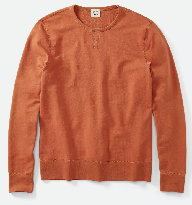 Reversible French Terry Sweatshirt in Chili from Flint and Tinder