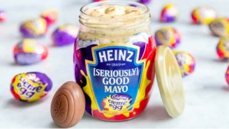 Cadbury Creme Egg-Flavored Mayo Is Now A Thing Because We're All Just Monkeys Spinning On A Rock In Space And Nothing Matters
