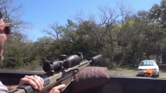 Ever Wonder What Happens When You Shoot WD-40 Cans With A .50 Cal Rifle? Answer: Awesome Fireballs
