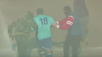 Soccer Player Retires Mid-Game By Staging A Mafia-Style Kidnapping With A F'n Helicopter Landing On The Field