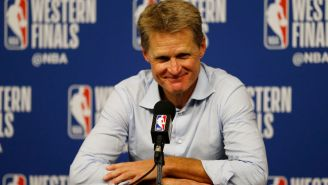 Steve Kerr Hilariously Clowned On James Harden For Flopping In The Best Way Possible