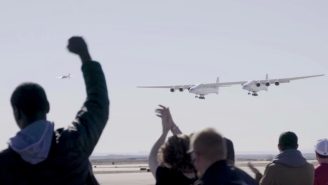 The World's Largest Plane Weighs 500,000 Pounds And Just Made Its First Flight (Pics + Video)