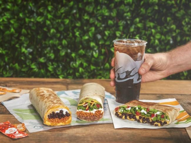 taco bell new vegetarian menu and drinks