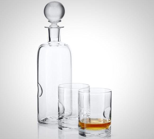 Terrane Oklahoma Whiskey Glasses Decanter and Monder Snifter handmade glassware