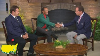 Jim Nantz Describes The Moment That Tiger Woods Won The Masters, Including Where He Was When Final Putt Dropped