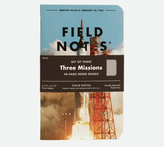 Three Missions 3-Pack from Field Notes