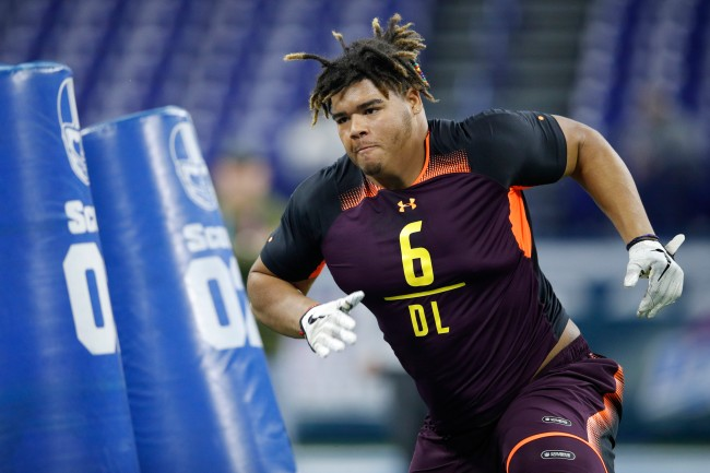 """Trysten Hill, a 2nd round NFL Draft pick of the Dallas Cowboys, had to sign a """"work ethic"""" contract with the team"""