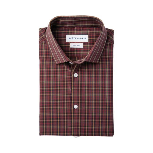 TYLER Burgundy Multi Plaid Shirt Mizzen+Main