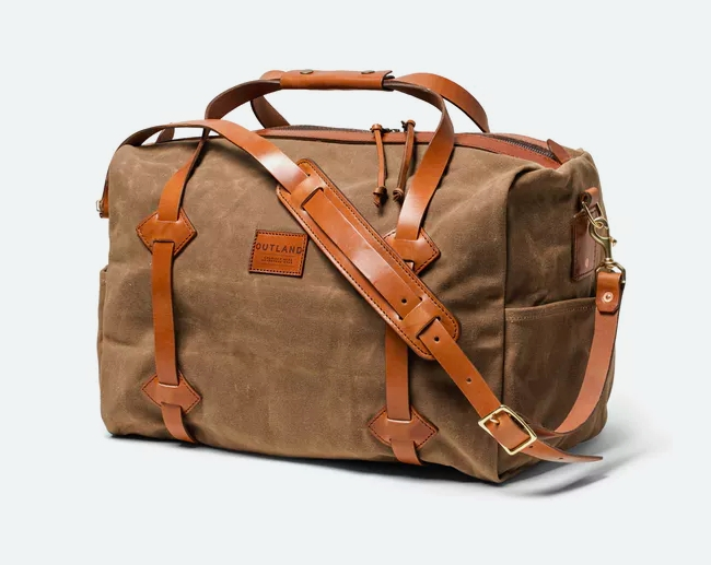 Waxed Canvas LAND Duffel from Bexar Goods Co.
