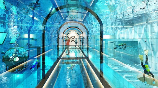 Worlds Deepest Swimming Pool Has Hotel Rooms With Underwater Views