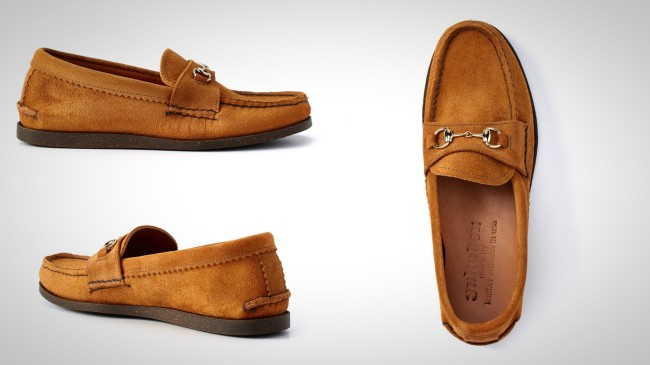Yuketen Leather Loafer in Brown