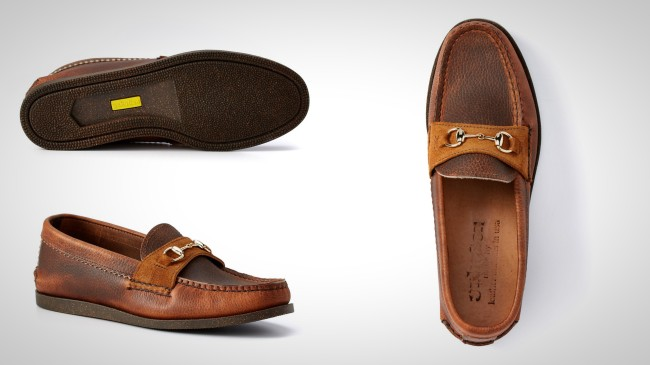 Yuketen Leather Loafer in Timber