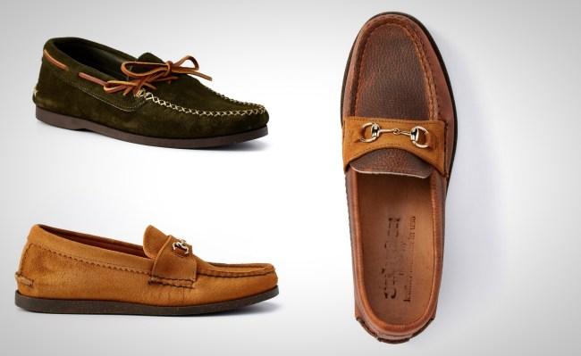 Yuketen Leather Loafer and Canoe Moc