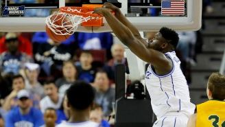Zion Williamson Did The Most Zion Williamson Thing By Almost Ripping Down A Hoop While Dunking At Duke's Rec Center
