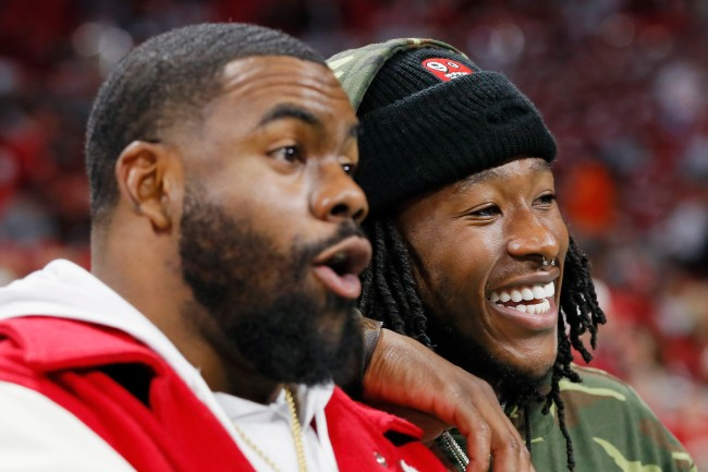 Alvin Kamara and Mark Ingram are two of the NFL players who will compete in a 40-yard-dash race to see who the fastest player in the league is.
