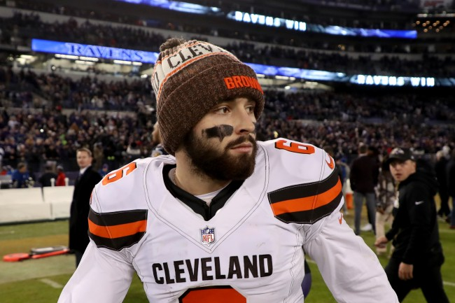 Cleveland Browns quarterback Baker Mayfield trolls Colin Cowherd with t-shirts about the radio host.