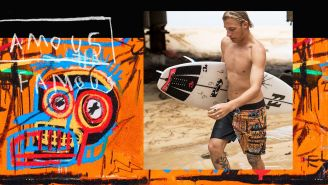 Street Art Meets Surfer Culture With Billabong's Jean-Michel Basquiat Board Shorts And Tees