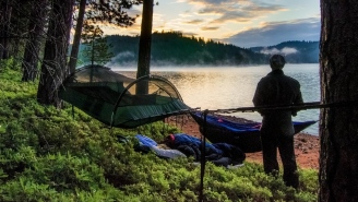 Camp Like A Pro This Summer With The Blue Ride Camping Hammock + Suspension System Combo (On Sale)