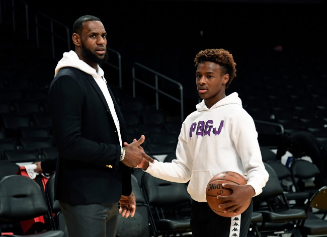 Bronny James duplicated LeBron James' iconic NBA Finals block and Twitter had awesome reactions